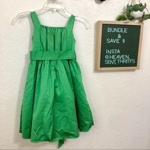 green formal girls dress